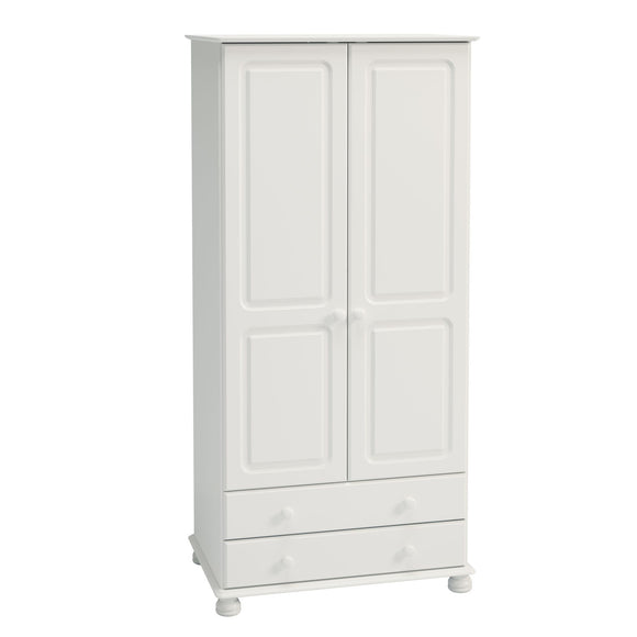 Richmond Bedroom 2 Drawer Full Size Wardrobe - White
