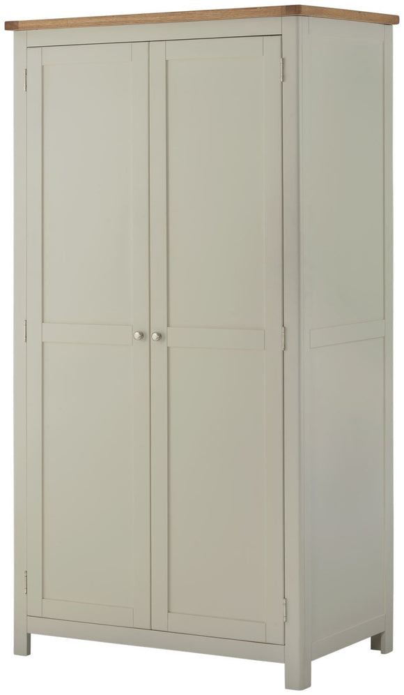 Oregon Oak 2 Door Wardrobe - Stone