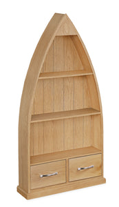 Milan Oak Boat Bookcase