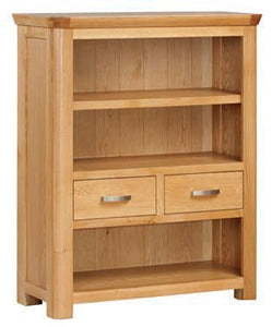 Crescent Oak Low Bookcase - Oak