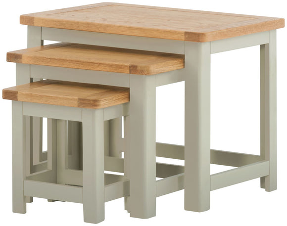 Oregon Oak Nest of Tables - Stone