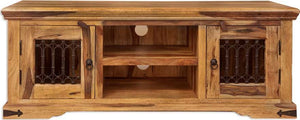 Jali Indian Rosewood Extra Wide TV Cabinet