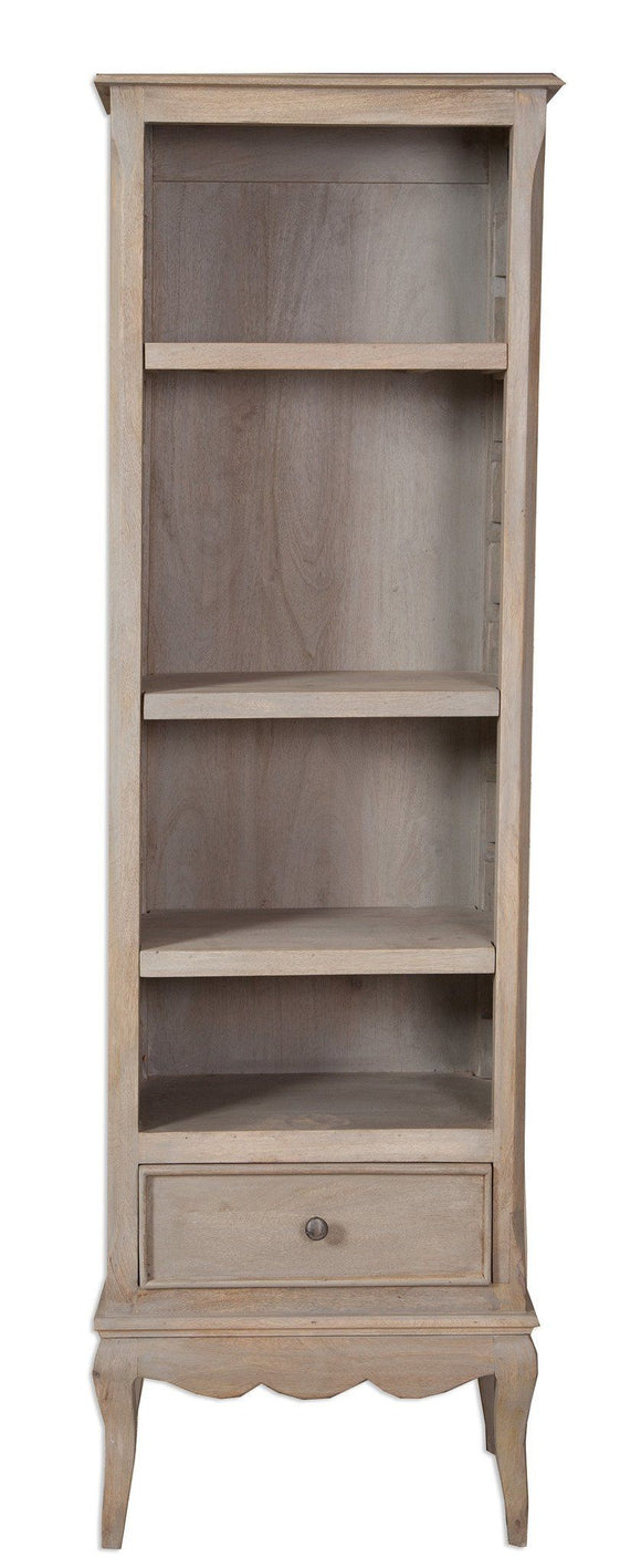 Bordeaux Grey Shabby Chic  Tall Narrow Bookcase