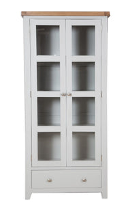 Canberra Painted      Display Cabinet - Grey