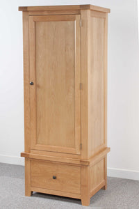 Devonshire Oak 1 Drawer Single Wardrobe