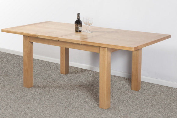 Devonshire Oak  Dining Table Small 2 Leaf Extender