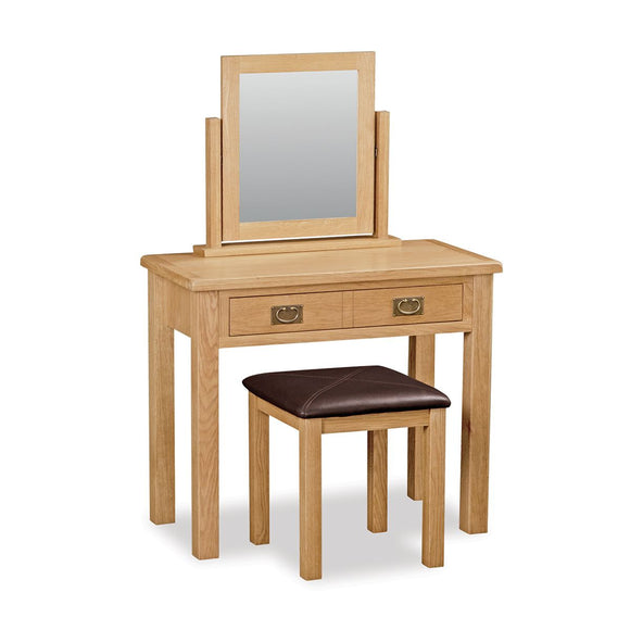 Manor Oak Lite Dressing Table Set