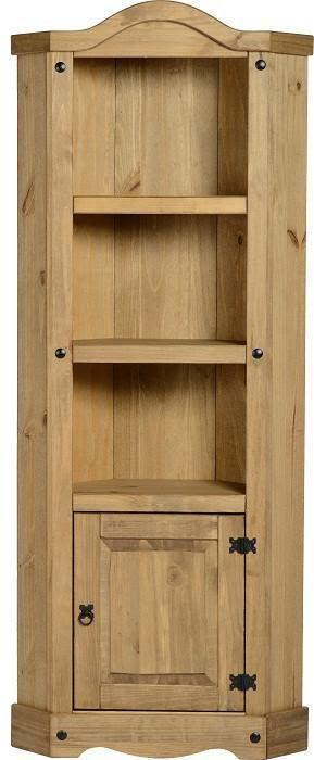 Corona Mexican Pine   Corner Display Cabinet
