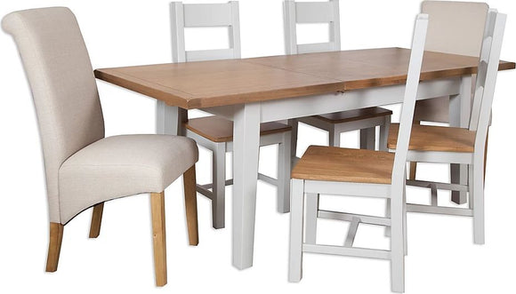Canberra Painted Extending Table - Grey