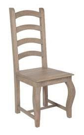 Bordeaux Grey Shabby Chic  Dining Chair - High Back