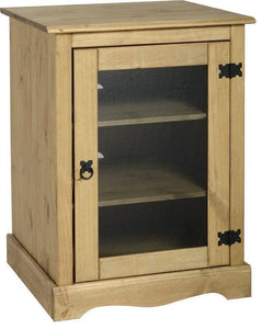 Corona Mexican Pine   HiFi Unit with Glass Door