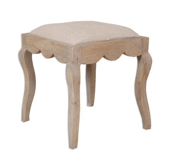 Bordeaux Grey Shabby Chic  Dressing Table Stool