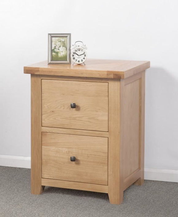 Devonshire Oak 2 Drawer Filing Cabinet