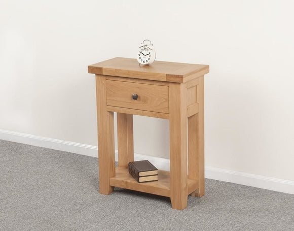 Devonshire Oak Small 1 Drawer Console Table