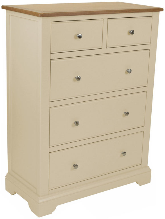 Harmony Oak 2 over 3 Chest of Drawers
