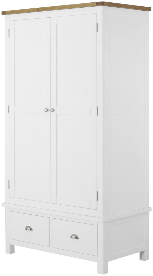 Oregon Oak Gents Wardrobe - White