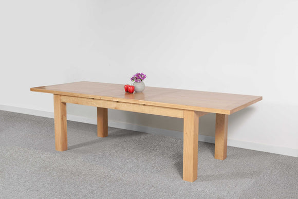 Devonshire Oak  Dining Table Medium 2 Leaf Extender