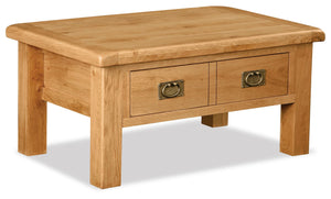 Manor Oak Coffee Table With Drawer