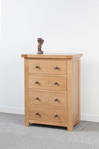 Devonshire Oak 4 Drawer Chest