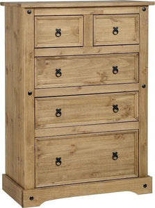 Corona Mexican Pine   3+2 Chest of Drawers