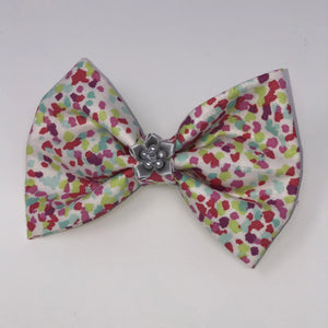 Pink Splash Pet Bow Tie