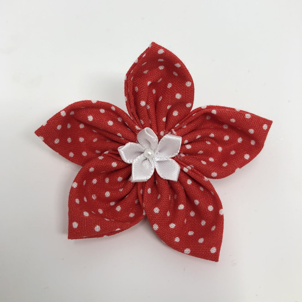 Red Polka Dot Flower