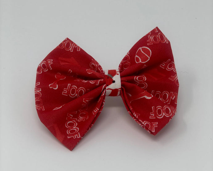 Red Woof Bow Tie