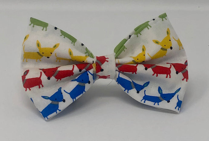 Multi Color Doggies Pet Bow Tie