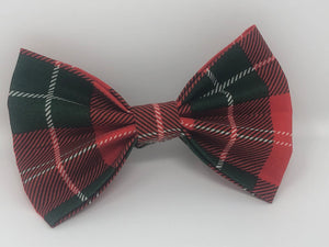 Red and Green Pet Bow Tie