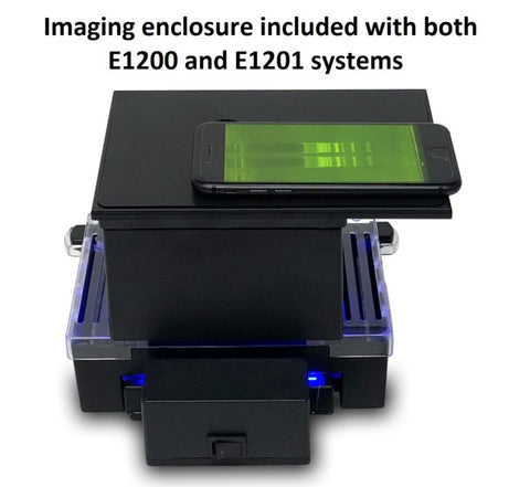 InstaView Gel Electrophoresis System with Imaging Enclosure