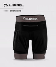Laden Sie das Bild in den Galerie-Viewer, 2in1 Herren Laufhose SAMBA SHORT