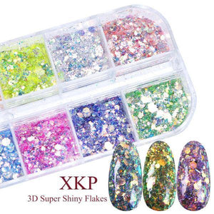 🍓3D Holographic Nail Glitter 12 Colors(50% OFF)