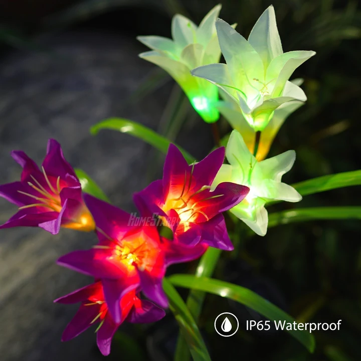 Lily flower solar light(Buy 6 free shipping)