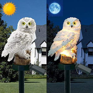 2020-50% OFF - Highpot Owl Shape Solar Powered LED Lamp Outdoor(Brown+White)