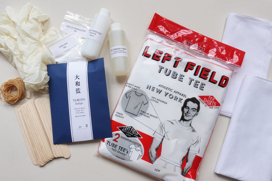 Left Field Tube Tee + Bandana Shibori Kit