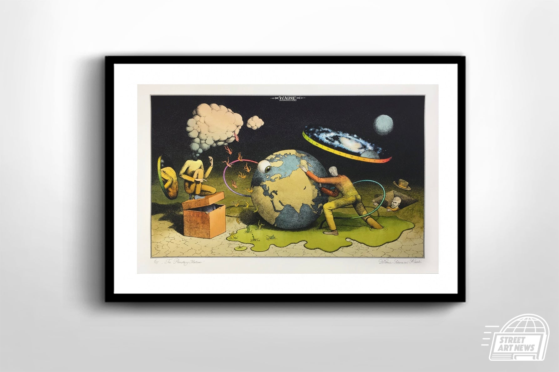 "Waone Interesni Kazki ""The Planetary Motion"" Hand Painted"