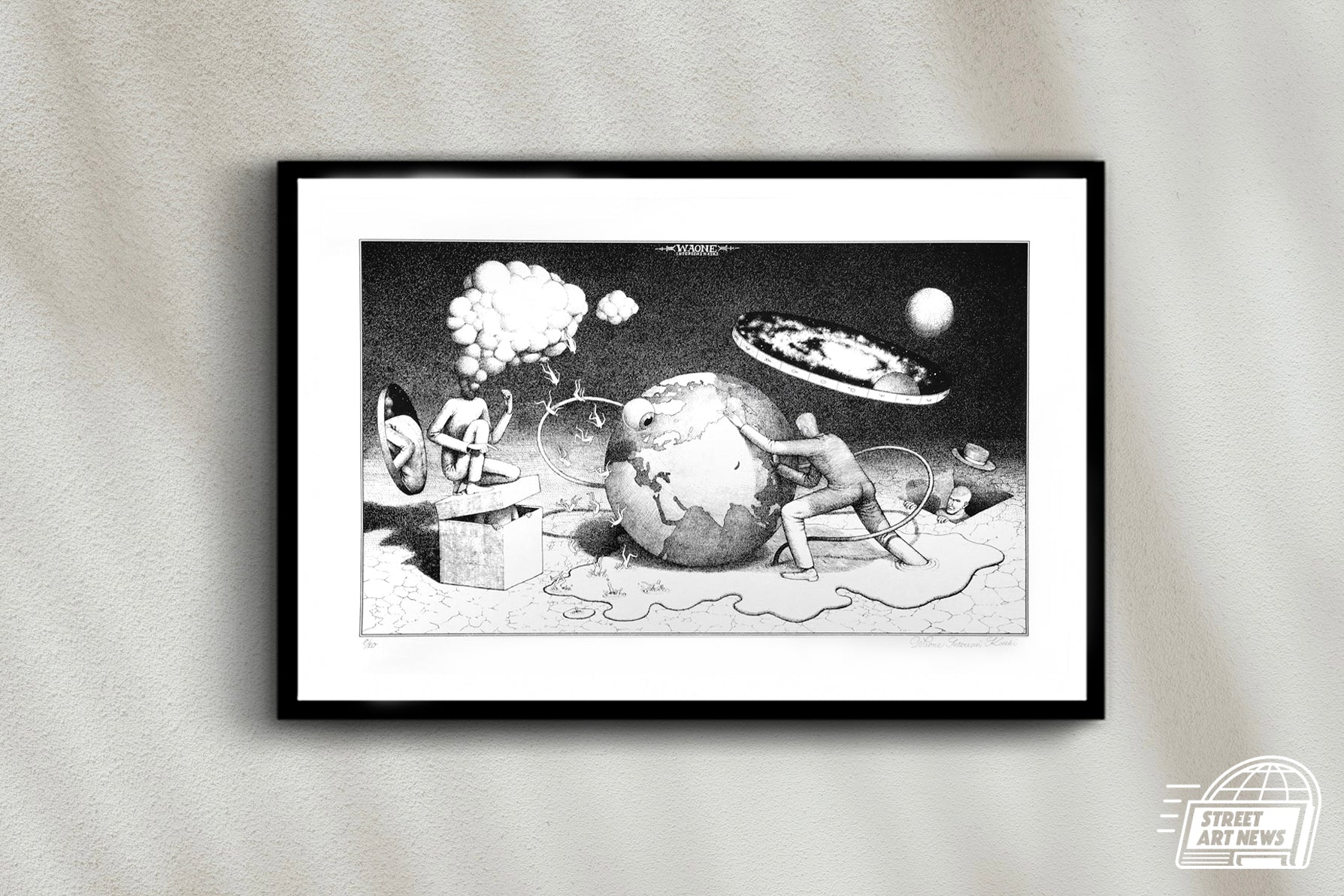 "Waone Interesni Kazki ""The Planetary Motion"" Black & White"