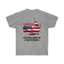 Load image into Gallery viewer, Land Of The Free Home Of The Brave - White Tshirt - sociallion