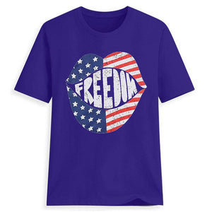 American Flag Lips T-Shirt - Lifestyle Products & Family Shop