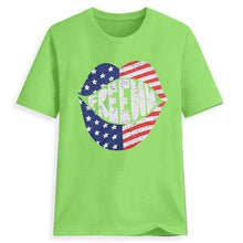 Load image into Gallery viewer, American Flag Lips T-Shirt - Lifestyle Products & Family Shop