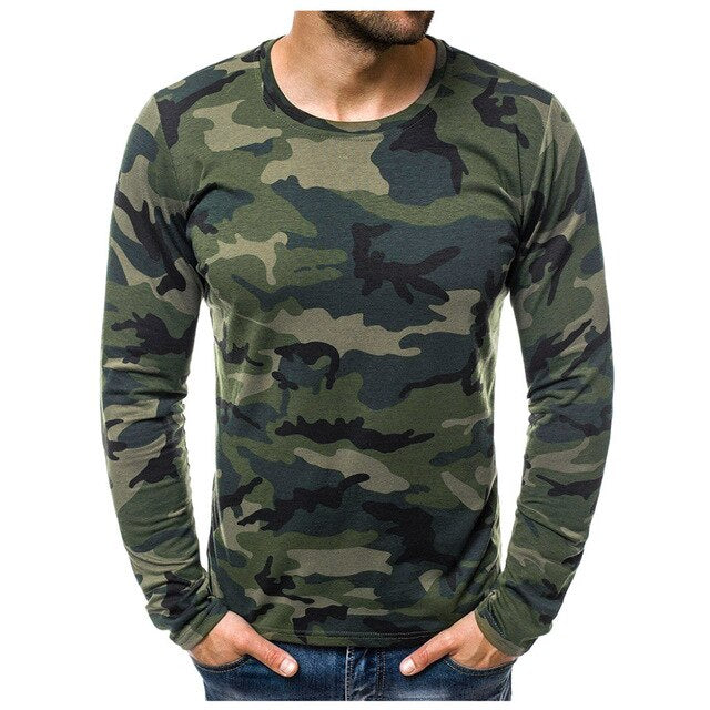 Camouflage Printed Long Sleeve T Shirt - Lifestyle Products & Family Shop