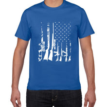 Load image into Gallery viewer, American Flag Machine Guns T Shirt - Lifestyle Products & Family Shop