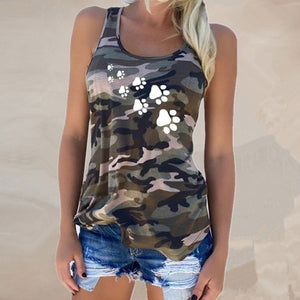 Camouflage Dog Paw Print T-Shirt - Lifestyle Products & Family Shop