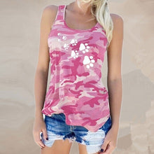 Load image into Gallery viewer, Camouflage Dog Paw Print T-Shirt - Lifestyle Products & Family Shop