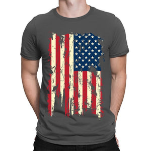 Colored USA Distressed Flag T-Shirt - Lifestyle Products & Family Shop