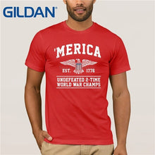 Load image into Gallery viewer, Merica est. 1776 Undefeated 2-time World War Champs T-Shirt - Lifestyle Products & Family Shop