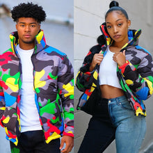 Load image into Gallery viewer, Unisex Camo Print Winter Jacket - Lifestyle Products & Family Shop
