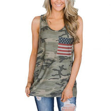 Load image into Gallery viewer, American Flag Patch Pocket Camouflage Top - Lifestyle Products & Family Shop