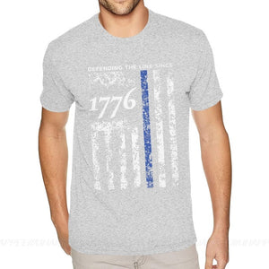 Thin Blue Line 1776 Independence Day T Shirt - Lifestyle Products & Family Shop