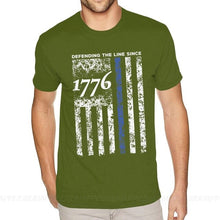 Load image into Gallery viewer, Thin Blue Line 1776 Independence Day T Shirt - Lifestyle Products & Family Shop